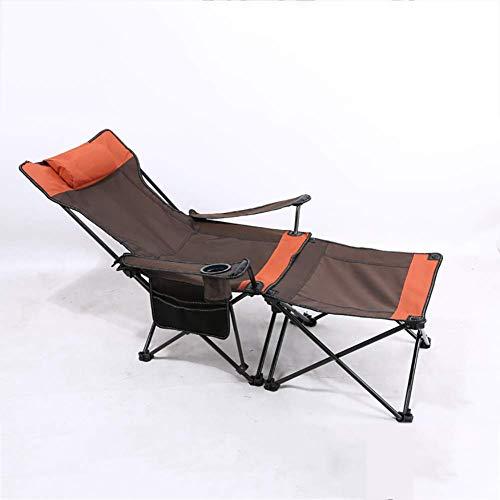 Unknow Silla de Camping Plegable 2 en 1, Silla Duradera para Exteriores para Pesca en la Playa y picnics, sillón portátil con Mesa Desmontable
