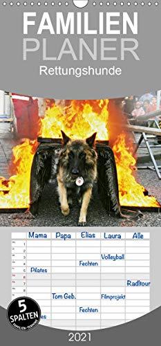 Rettungshunde - Familienplaner hoch (Wandkalender 2021, 21 cm x 45 cm, hoch)