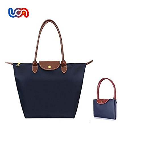 UCA Bolsa plegable para la compra,color azul marino