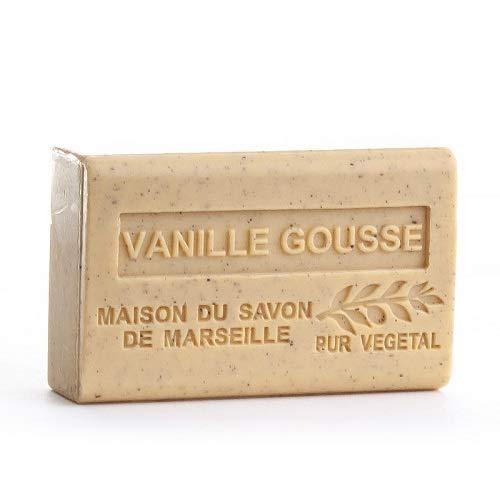 Savon De Marseille Vanille Au Beurre De Karité Artisanal Pure Bio 100% Naturel Hydratant Pour Corps Et Visage 125g