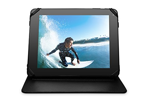 Ematic 10-inch Universal Leatherette Hardback Tablet and iPad Case, Black
