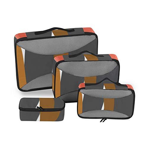Cubes Packing Creative Delicious Buffet Grill Fleisch Aufbewahrungswürfel 4er Pack Verpackung Veranstalter Gepäck 4-teiliger Koffer Organizer Leichte Gepäckaufbewahrungstasche