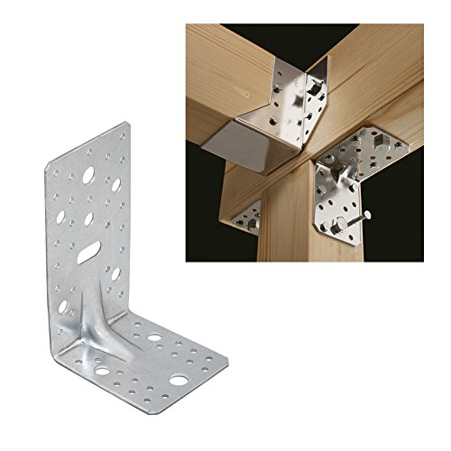 Schwerlast Winkelverbinder mit Sicke Bauwinkel Holzverbinder verzinkt 172x105x90x3 mm