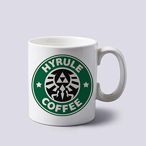 Hyrule Coffee The Legends of Zelda - Taza de cerámica de dos lados de 325 ml