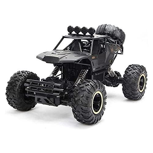 ELXSZJ XTZJ RC Car - AWD Control Remoto Monster Truck, camión de 4x4 RC, 1:16 RC RC Crawler Stunt Coche de Control Remoto para niños con batería de Juguete RC Recargable (Azul)