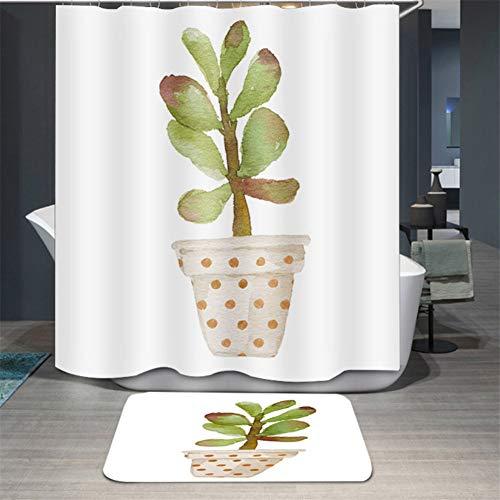 empty douchegordijn, waterdicht badgordijn, vochtbestendig douchegordijnen van polyester, potplanten