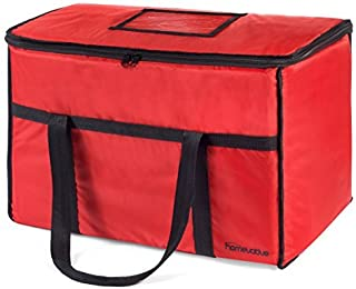 Homevative (Extra Large 22'x14'x13') Nylon Insulated Food Delivery and Reusable Grocery Bag - For Catering, Restaurants, Delivery Drivers, Uber Eats, Grubhub, Postmates, Shipt, Instacart, and more.
