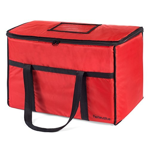 Homevative (XL 22 x 14 x 13) Nylon Insulated Thermal Food Delivery and Reusable Grocery Bag - For Catering, Restaurants, Delivery Drivers, Uber Eats, Grubhub, Postmates, Shipt, Instacart, and more