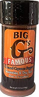 Ground Cayenne Pepper Seasoning and Dry Rub, Highest Quality Cayenne Pepper, Great on Everything! Grilling, Smoking, Roasting, Cooking, or Baking! By: Big G's Food Service