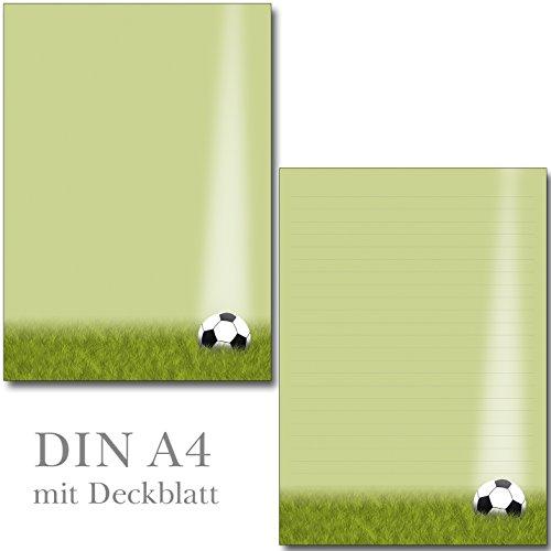 1 Schreibblock Fußball Format DIN A4 25 Blatt mit Deckblatt 7400