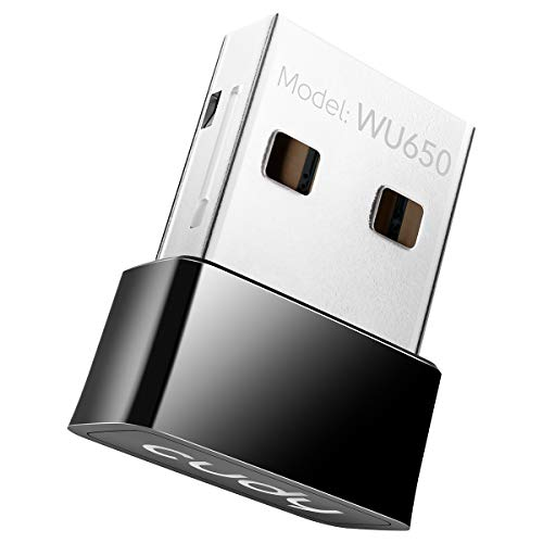 Cudy AC 650Mbps USB WiFi Adapter for PC, 5GHz/2.4GHz Wireless Dongle, WiFi USB, USB Wireless Adapter for Laptop - Nano Size, Compatible with Windows XP / 7 / 8.x / 10, Mac OS