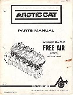 1972 ARCTIC CAT KING KAT KAWASAKI ENGINE T2A-800F FREE AIR PARTS MANUAL (189)