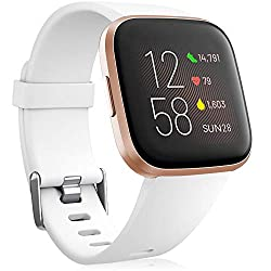 Compatible Devices: The replacement straps are perfectly compatible with fitbit versa 2/fitbit versa/fitbit versa lite/Fitbit Versa 2 special edition for women men. Special Note: versa smartwatch is not included. Premium Material: This fitbit versa 2...