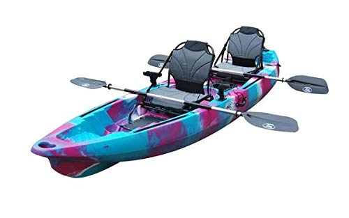 BKC TK122 Angler 12-Foot, 8 inch Tandem 2 or 3 Person Sit On Top Fishing Kayak...