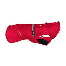 Cherry Red Hurtta Pet Collection Summit Dog Parka.