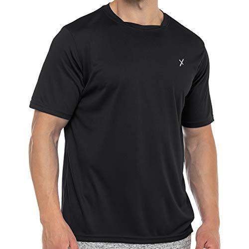 CFLEX Herren Sport Shirt Fitness T-Shirt piqué Sportswear Collection - Schwarz M
