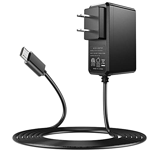 Raspberry Pi Power Supply, SoulBay 5V 3A Micro USB AC Adapter with 6Feet Long Cord for Raspberry Pi 3 2 Model B/B+ Pi A/A+ Zero, Android Tablet, Compatible with DC5V 2.5A 2A