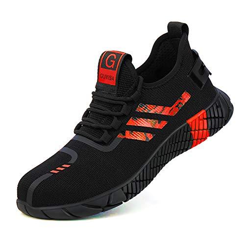 Calzado de Seguridad Antideslizante, en Sitio Montaña Asfalto, Zapatos de Trabajo Industrial Deportivo para Hombre Mujer