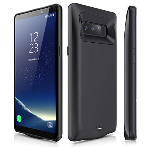Galaxy Note 8 Battery Case, JUBOTY 5500mAh External Fast Charging Backup Portable Power for Samsung Galaxy Note 8 Protective Charging Case(Black)
