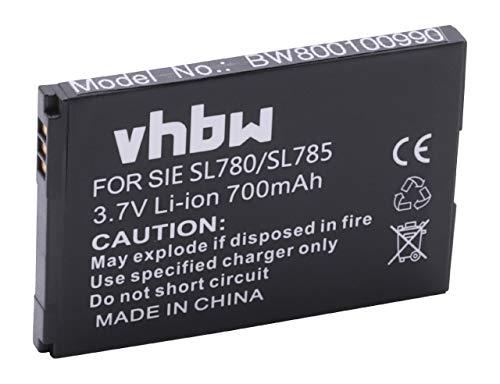 vhbw Akku passend für Siemens Gigaset SL400, SL400A, SL400H, SL 400 A H schnurlos Festnetz Telefon (700mAh, 3.7V, Li-Ion)