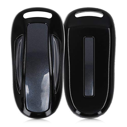 kwmobile Autoschlüssel Hülle kompatibel mit Tesla Model 3 / Model X Autoschlüssel - Hardcover Schutzhülle Schlüsselhülle Cover in Schwarz