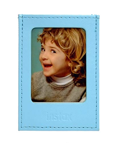 Fujifilm Instax Mini Blue - Moldura Polipiel para Fotos, Color Azul Cielo