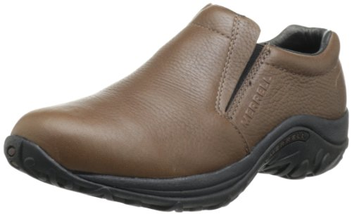 Merrell Men's Jungle Moc Leather Slip-On Shoe,Mahogany Brown,10 M US