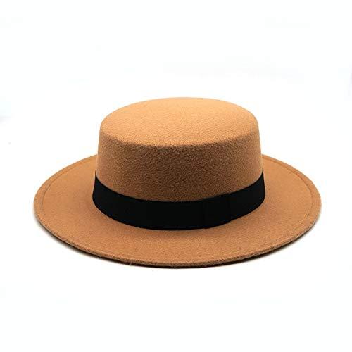 Invierno otoño imitación Lana Mujeres Hombres señoras Fedoras Top Jazz Sombrero Gorras Redondas bombín Feminino Gorra-7-One Size