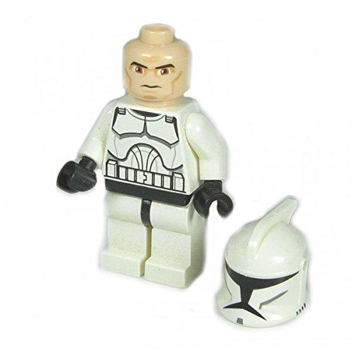 Lego Star Wars Clone Figur Tooper Commander Clone Kopf 8014 8098 F70