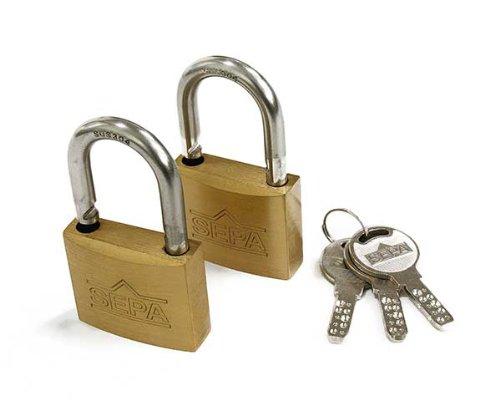 ハイロジック ディンプル南京錠 40ミリ 同一鍵2個3本キー G-265