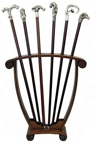 Rastrelliera Espositore Portabastoni da Collezione Legno Massello Rack Sticks