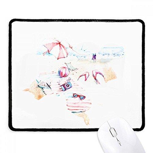 DIYthinker strand zee bumbersull aquarel schilderij anti-slip muismat spel office zwart teef randen gift