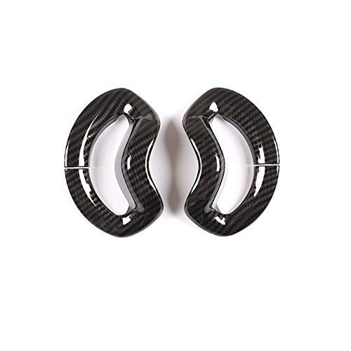 Cubierta Interior Coche para B-M-W X5 G05 2019 ABS Fibra De Carbono Cromo Cubierta De Cinturón De Seguridad Embellecedor Accesorios De Coche (Color : Carbon Fiber)