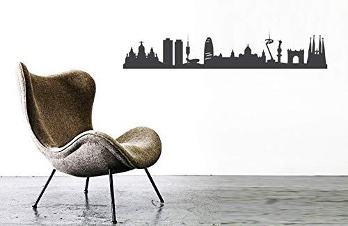 44espacios BARCELONA City Skyline Modern Wall Sticker Home Decor, Vinilo decorativo para el hogar y la oficina, diseño de muebles y paredes