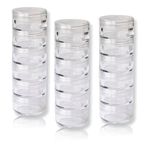 Envases para Cosmetica,Worsendy Contenedor de Cosméticos,Contenedor de Cosméticos Bote Tarro de Viaje Set con Tapa para Almacenaje de Maquillaje Cremas Muestras,5g/10g/15g/20g Gramos (Transparent,5g)