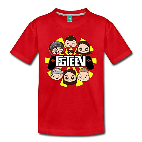 FGTeeV Controller Family Logo T-Shirt red Youth S