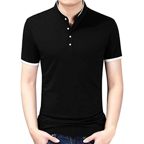 WINJIN Polo Homme Chemise Manches Courtes Polos Casual Tennis Golf T-Shirt Haut Unicolore Pull Homme T-Shirt Homme Top Homme Haut Homme Grande Taille Tee Shirt Homme Blouse Shirt Slim Fit Poloshirt