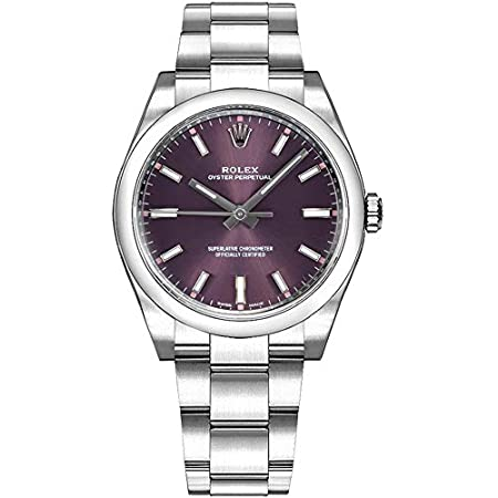 Fashion Shopping Rolex Oyster Prepetual Automatic Purple Grape Dial Stainless Steel Unisex Luxury