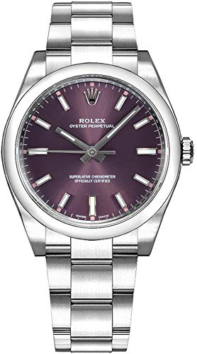 Fashion Shopping Rolex Oyster Prepetual Automatic Purple Grape Dial Stainless