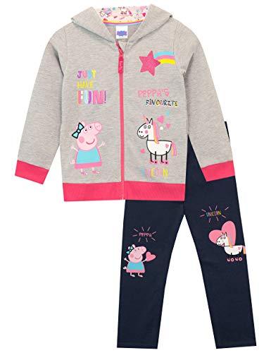 Peppa Pig Conjunto de Sudadera con Capucha y Leggings para Niñas Unicornio Multicolor 2-3 Años