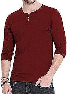 メンズ サーマル Tシャツ ヘンリーネック 長袖 Tシャツ メンズ カットソー クルーネック 無地 トップス 柔らかい綿混素材 インナー オールシーズン お洒落
