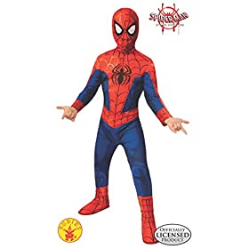 Rubies Spider Man Into The Spider Verse Childs Peter Parker Spider Man Costume Small