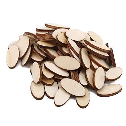 Toporchid Starke Ellipse-Unfertige Hölzerne Ausschnitt-Oval-Chips Für Kunsthandwerk