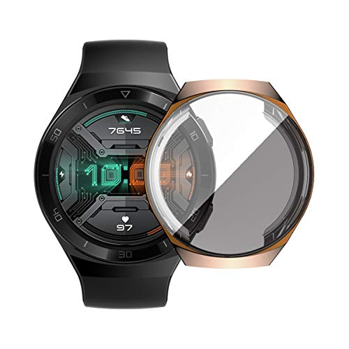 KKmoon TPU Smart Watch Case Capa para relógio de proteção à prova de choque Capa para smartwatch à prova de arranhões com protetor de tela compatível com HUAWEI WATCH GT 2e