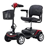 Foldable Mobility Scooter 4-Wheel Sport Heavy Duty Long Range Automatic for Adults, Electric...