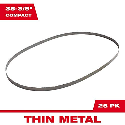 """Milwaukee 35-3/8"""" Compact Bandsaw Blades 14 TPI 25 Pack"""