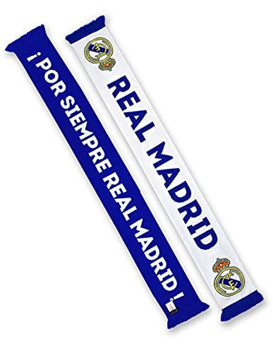 REAL MADRID BUFANDA DOBLE CIRCULAR Nº 1 BLANC