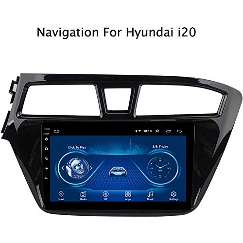 GLFDYC Android 8.1 Car GPS Navigation Radio TV, 9 Zoll Full Touch Screen Bildschirm Autoradio, für Hyundai i20 2015-2018, mit Lenkradkontrolle Bluetooth Link Stereo AUX DAB MP5,4G+WiFi:2+32G-Plug1