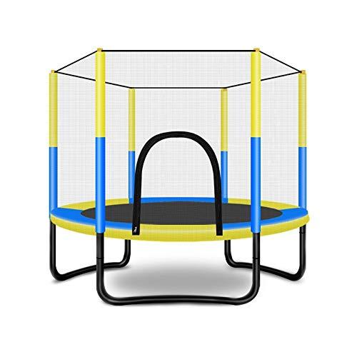 GU YONG TAO Trampolín de 5 pies con cerramiento de Seguridad Almohadilla de Salto de Resorte Neto para niños, niños pequeños - Combo Bounce Jump Trampolines para Entretenimiento Escolar Familiar