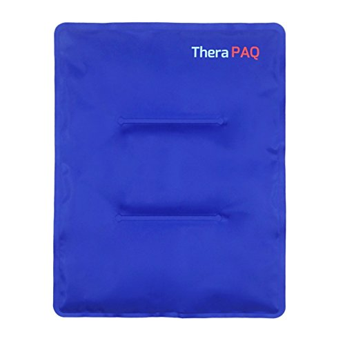 Large Gel Ice Pack by TheraPAQ: Reusable Hot & Cold Pack for Your Hips, Shoulders, Back, Arms, Legs, Knees - Refreezable & Microwavable Gel Pad for Pain Relief & Faster Injury Recovery (XL 14' X 11')